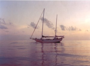 *SV KIJANA *KETCH 54 *Becalmed in the Flores Sea  *After taking delivery from Jesse Martin, the record holder for youngest to sail around the world solo, non-stop, unassisted *Bali to Brisbane - 3000 nm - 8.5 weeks
